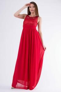 9dd08414322ed3 suknia wieczorowa długa czerwona - stylowo i modnie z Allani