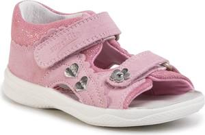 Różowe buty dziecięce letnie Superfit ze skóry