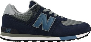 Granatowe buty sportowe New Balance sznurowane z płaską podeszwą