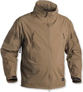 Brązowa kurtka HELIKON-TEX w stylu casual z tkaniny krótka