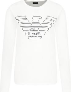 Bluzka Emporio Armani w młodzieżowym stylu z okrągłym dekoltem z krótkim rękawem