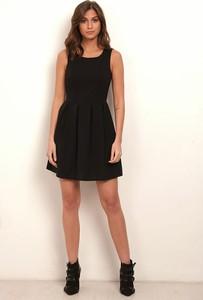 Czarna sukienka Manoukian rozkloszowana mini na ramiączkach