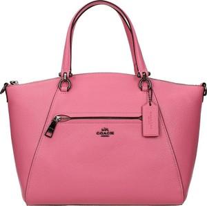 Różowa torebka Coach na ramię matowa duża
