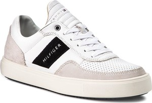 36292922b849b Sneakersy TOMMY HILFIGER - Lightweight Material Mix Low Cut FM0FM01706  White 100