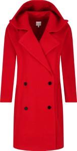 Czerwony płaszcz Silvian Heach w stylu casual