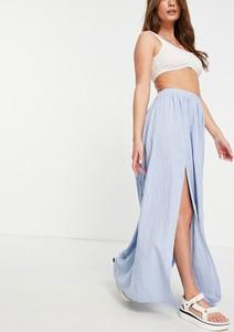 Niebieska spódnica Asos midi