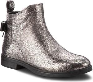 Buty dziecięce zimowe Geox z zamszu