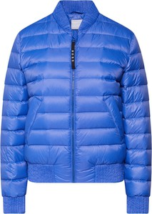 Niebieska kurtka Boss krótka w stylu casual z neoprenu