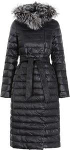 Czarna kurtka Ochnik w stylu casual długa