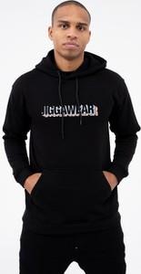 Czarna bluza Jigga Wear w młodzieżowym stylu z dzianiny