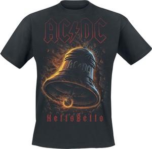 Czarny t-shirt Ac/Dc z bawełny