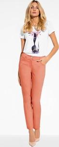 Różowe jeansy L'AF z jeansu