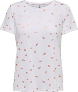 T-shirt Only w stylu casual z okrągłym dekoltem z krótkim rękawem