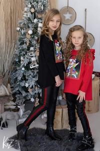 Tunika dziewczęca e-lily.pl z dzianiny dla dziewczynek