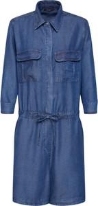 Niebieski kombinezon Opus z jeansu w militarnym stylu