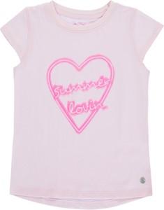 Różowa koszulka dziecięca Tom Tailor z bawełny z krótkim rękawem