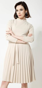 Renee beżowa sukienka for you