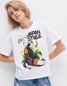 T-shirt House w młodzieżowym stylu z okrągłym dekoltem z krótkim rękawem