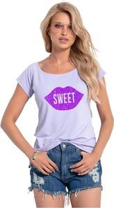 T-shirt Knitis z okrągłym dekoltem z krótkim rękawem w młodzieżowym stylu