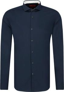 Niebieska koszula Hugo Boss z długim rękawem w stylu casual