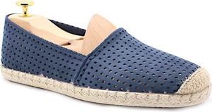 Granatowe buty letnie męskie MARIETTAS