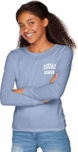 Błękitna koszulka dziecięca arizona z nadrukiem z bawełny