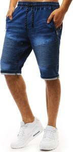Niebieskie spodenki Dstreet z jeansu
