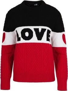 Sweter Love Moschino w stylu casual z kaszmiru