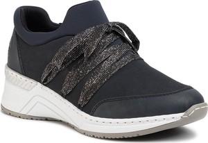 Sneakersy Rieker sznurowane na platformie