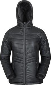 Czarna kurtka Mountain Warehouse z polaru w stylu casual krótka