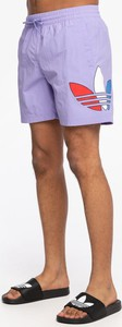 Fioletowe spodenki Adidas z dresówki