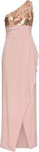 Sukienka bonprix BODYFLIRT boutique asymetryczna bez rękawów maxi