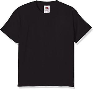 Czarna koszulka dziecięca Fruit Of The Loom