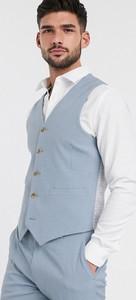 Niebieska kamizelka Asos z tkaniny
