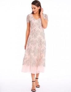 Sukienka POTIS & VERSO prosta z tiulu