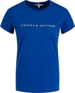 T-shirt Tommy Hilfiger z krótkim rękawem z okrągłym dekoltem w stylu casual