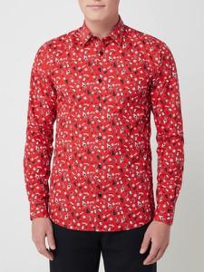 Czerwona koszula Only & Sons z klasycznym kołnierzykiem