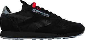 Czarne buty sportowe Reebok Classic ze skóry sznurowane