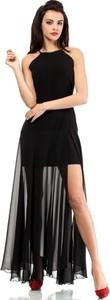 Czarna sukienka MOE bez rękawów maxi