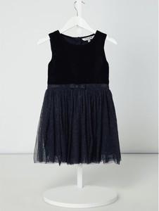 Granatowa sukienka dziewczęca Review For Kids z tiulu
