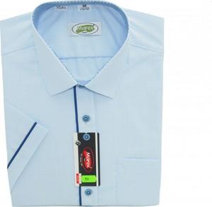 Niebieska koszula Marex Łódź z włoskim kołnierzykiem