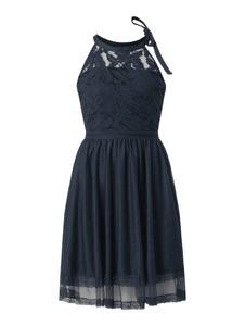 Sukienka Vila z dekoltem halter mini rozkloszowana