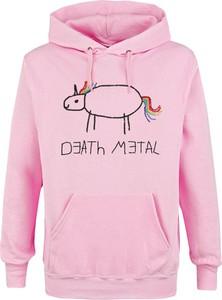 Bluza Death Metal z bawełny w młodzieżowym stylu