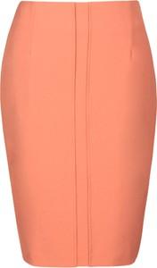 Pomarańczowa spódnica Fokus midi w stylu klasycznym