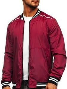 Czerwona kurtka Denley krótka w stylu casual