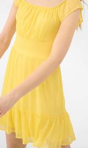 Żółta sukienka ORSAY w stylu casual z szyfonu bez rękawów