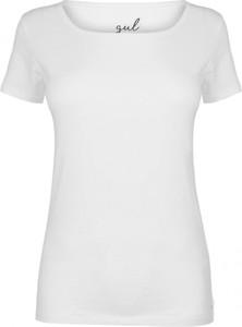 T-shirt Gul w stylu casual z okrągłym dekoltem z krótkim rękawem