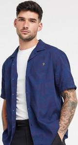 Niebieska koszula Farah z klasycznym kołnierzykiem