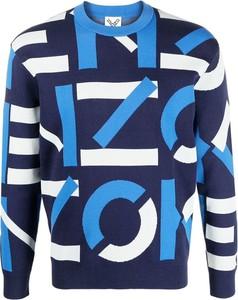 Niebieski sweter Kenzo z okrągłym dekoltem