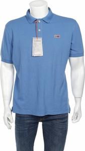 Niebieska koszulka polo Napapijri z krótkim rękawem
